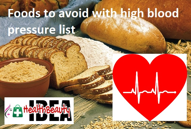 Foods to avoid with high blood pressure list