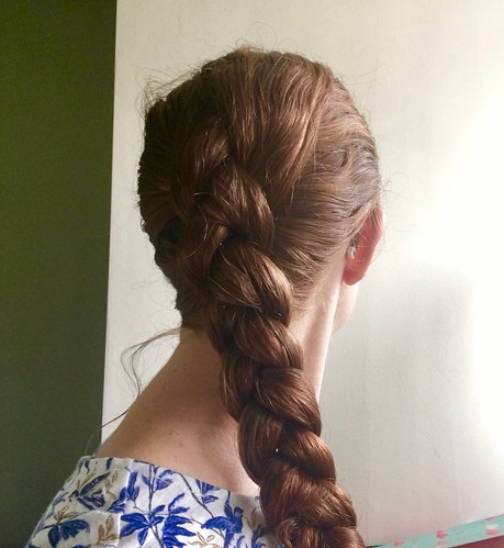 Hairstyle in Braids - Dutch Braids